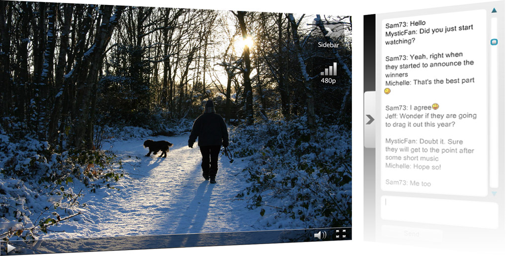 Live Chat with HTML5 Video Player