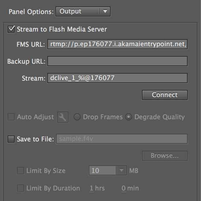 How to use Adobe Flash Media Live Encoder