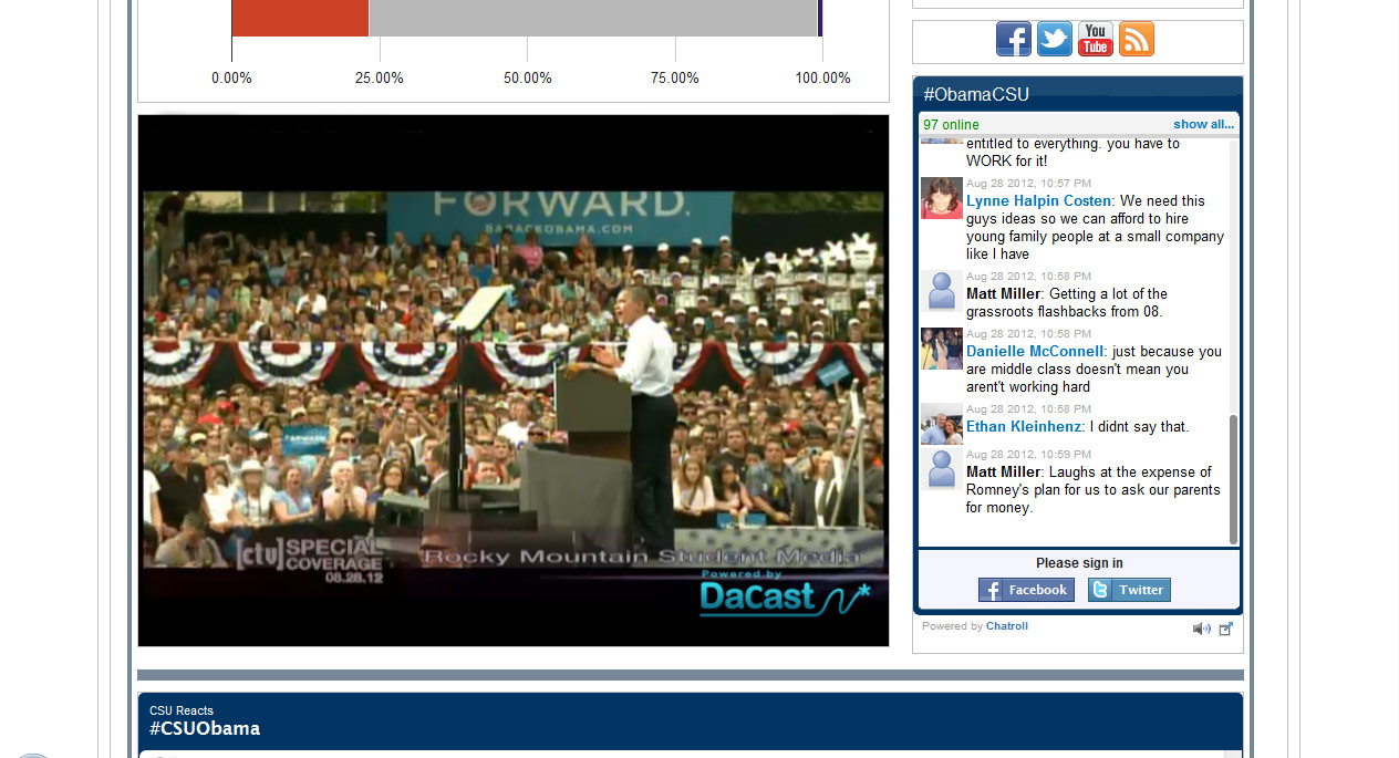 Obama Live Streaming Politics with DaCast