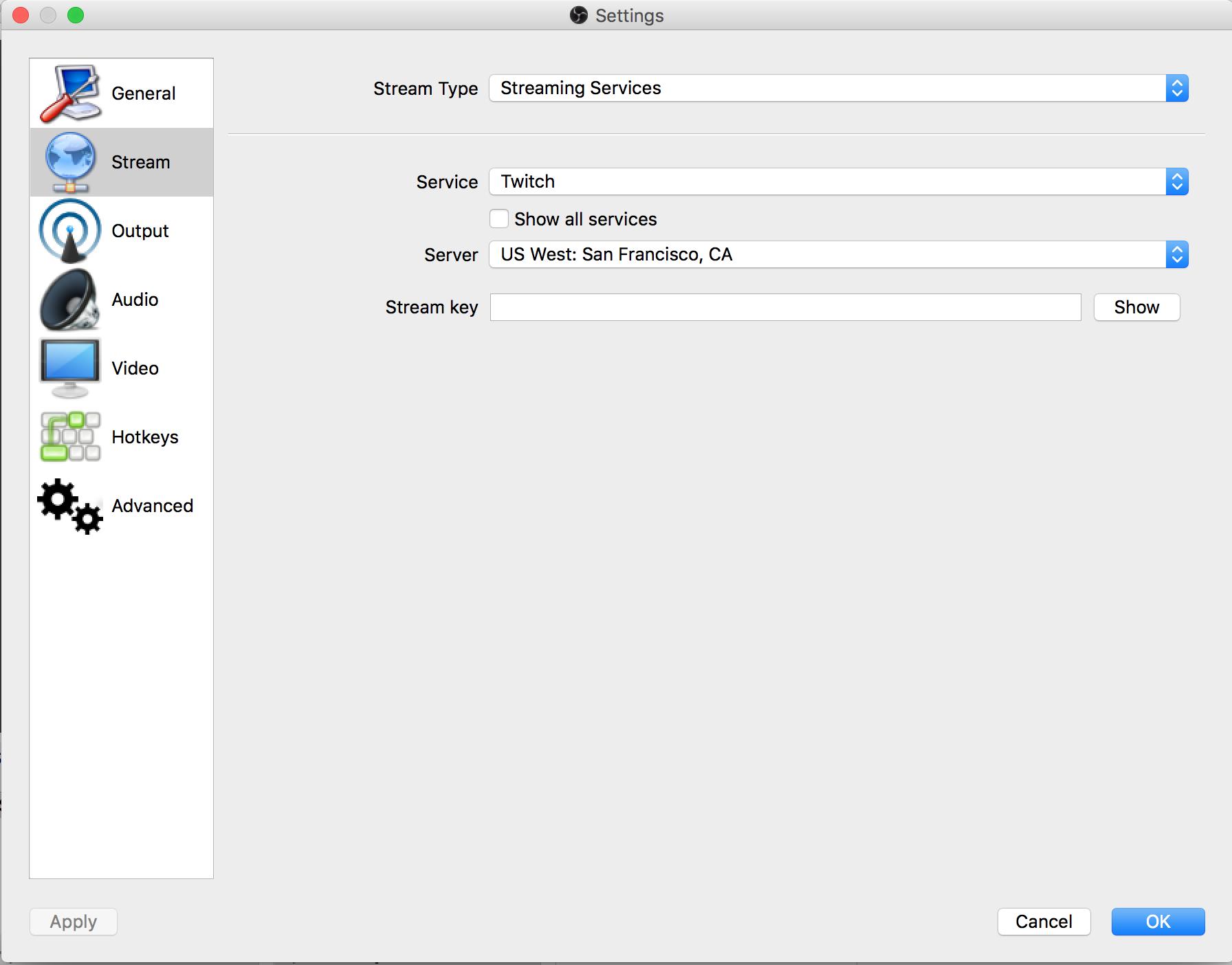 Live Streaming OBS Mac