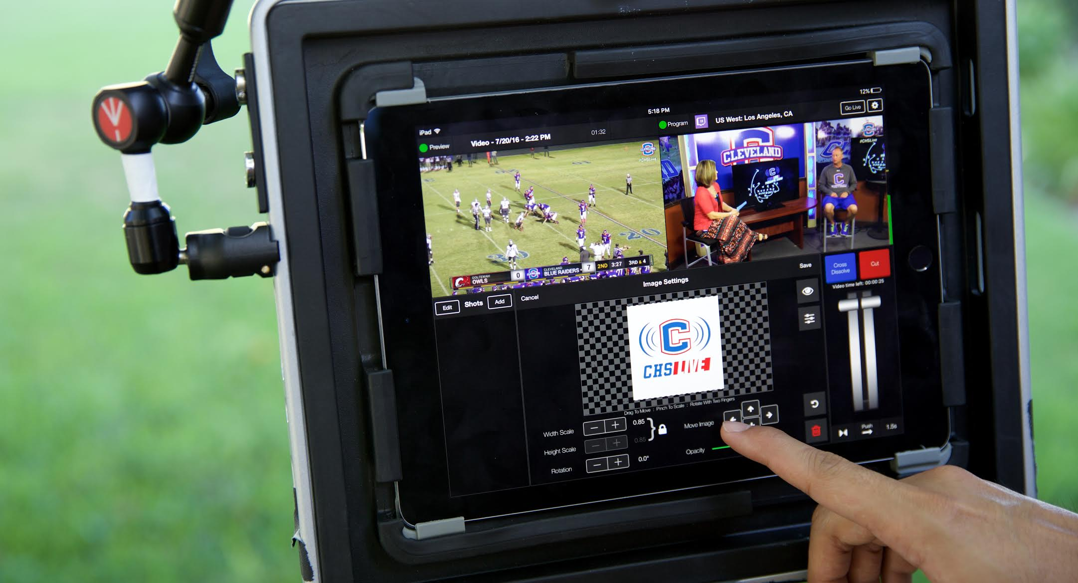 Professional Live Video Broadcasting Production On Your Tablet or Phone LiveAir 2