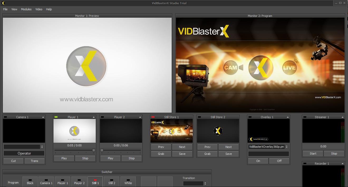 stream with VidBlasterX