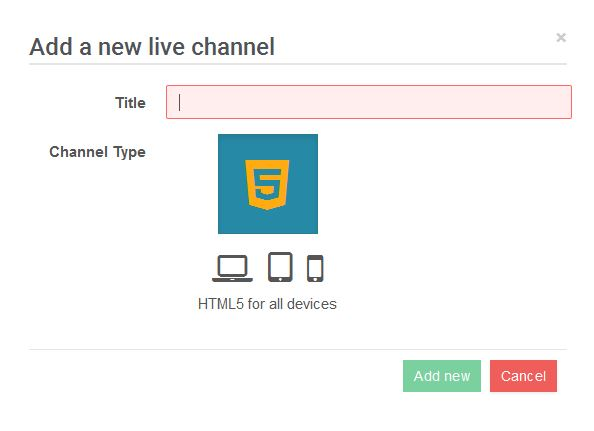 HTML5 live channel