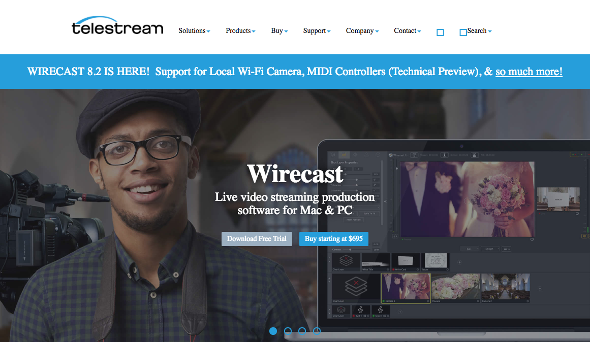 Telestream Wirecast Live Video Streaming Production