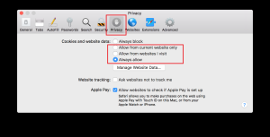 Allow third party cookies on Safari - iOS - Dacast