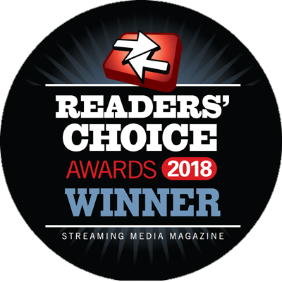 Winner Streaming Media Reader Choice Awards