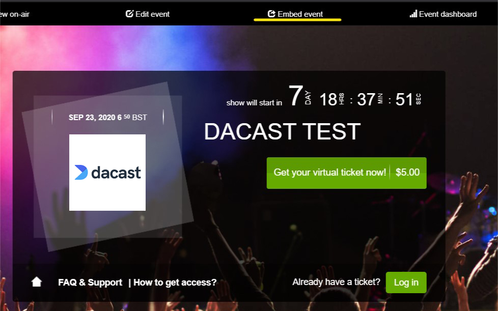 Dacast Cleeng Paywall - Test Page