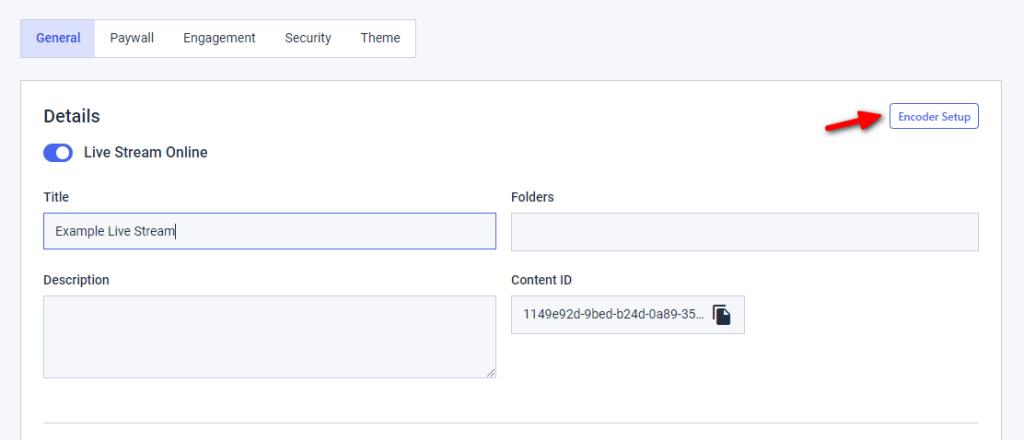 Dacast Encoder Setup - Credential Setup