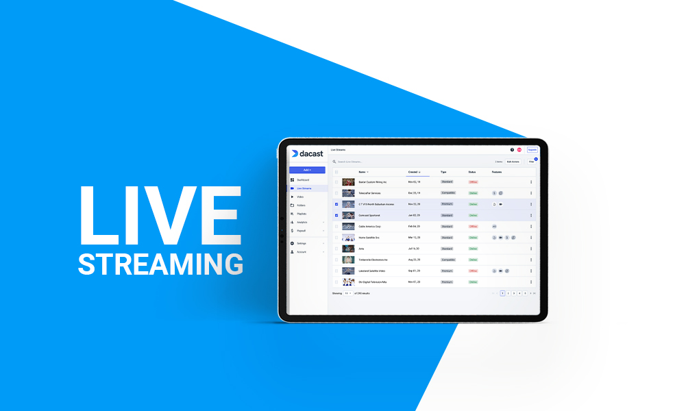 Dacast - Live Streaming and On Demand Video Platform
