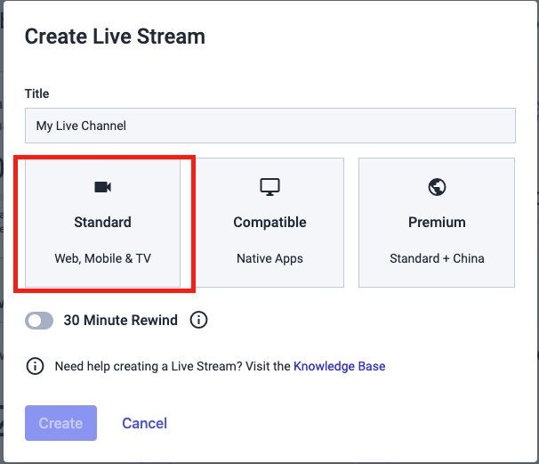 Dacast New Platform - Live Streaming Introduction - Create Live Stream
