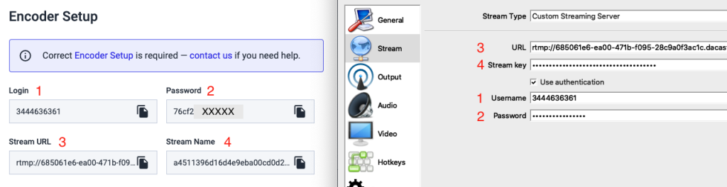 Dacast New Platform - Live Streaming Introduction - Livestream Encoder Setup Settings