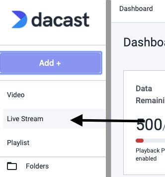 Dacast New Platform - Live Streaming Introduction - Setup