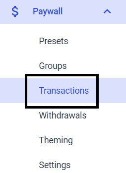 Dacast Paywall Currencies - Transactions
