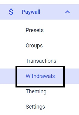Dacast Paywall Currencies - Withdrawals