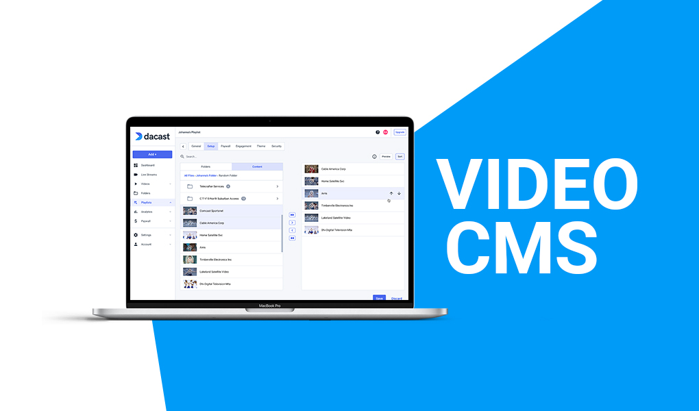 Video Hosting and Content Management (CMS)
