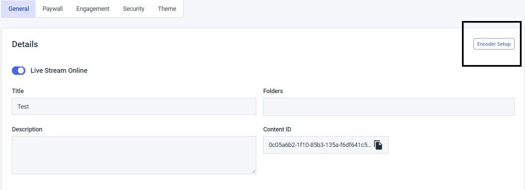 Encoder login Password - Encoder Setup