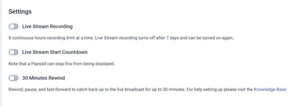 Set Up a Livestream Countdown Timer - Settings
