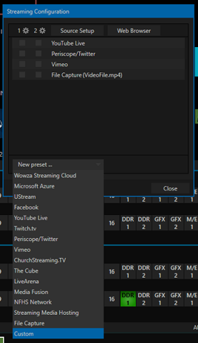 TriCaster Streaming - Streaming Configuration