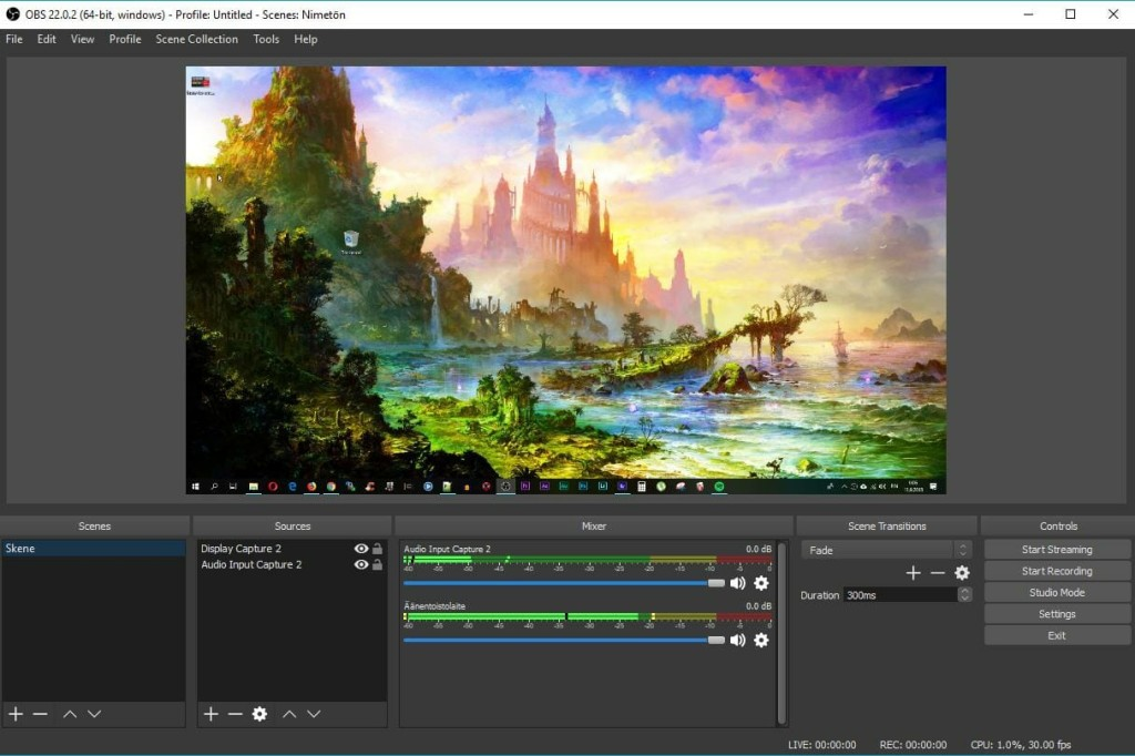 OBS Studio RTMP encoder for live streaming