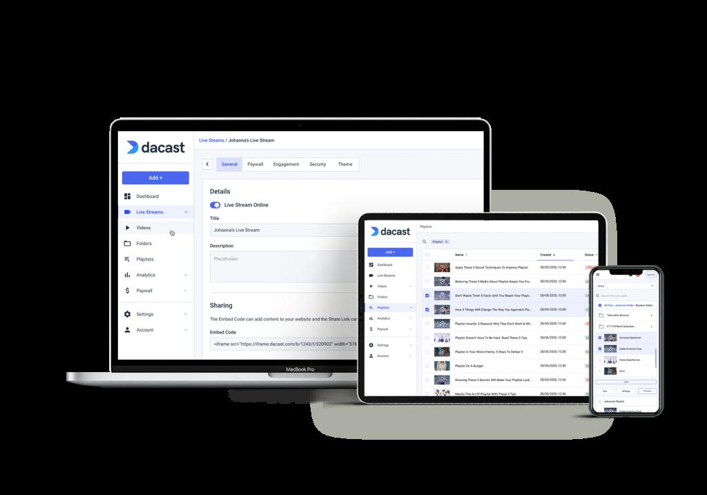 Dacast Live Streaming Platform