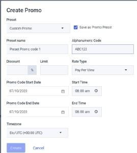 Dacast Promo Code - Create Promo