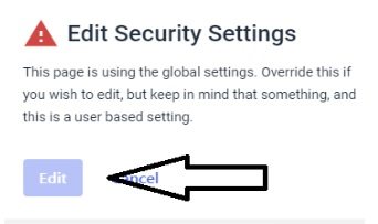 Dacast Video Security - Password Protected Streams - Edit Security Settings