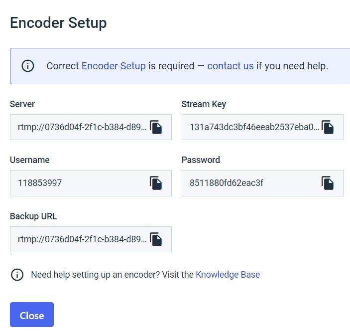 Live Video Streaming - Larix Mobile Broadcaster - encoder setup example