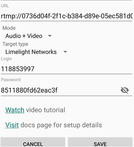 Live Video Streaming - Larix Mobile Broadcaster - outgoing connections new