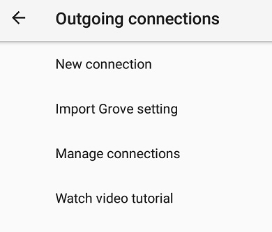 Live Video Streaming - Larix Mobile Broadcaster - outgoing connections settings