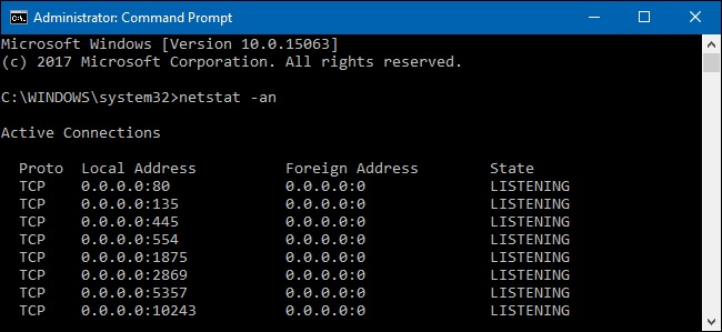 Ports for Live Streaming - Admin Command Prompt
