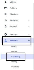 watermark dacast account company