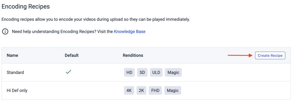 Dacast VOD Multi-Bitrate Encoding - Encoding Recipe