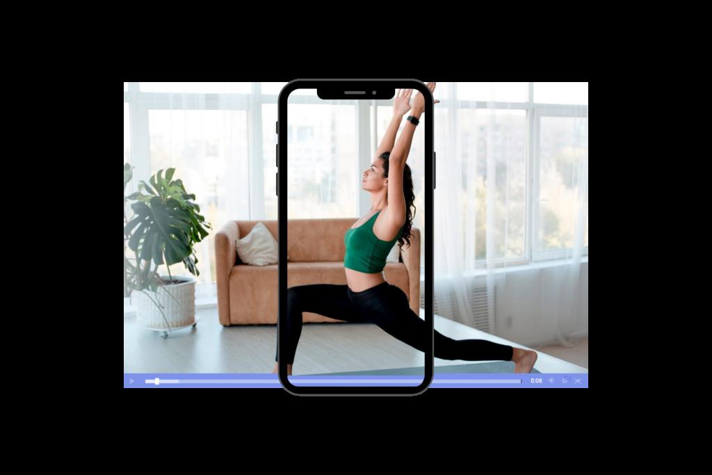 Easy to set up live stream fitness platform