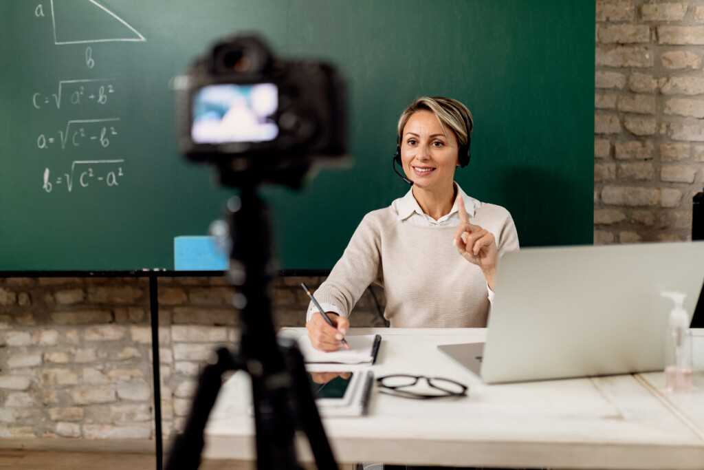 Recorded lectures for online education