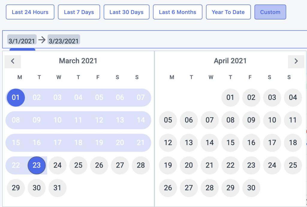 Date picker custom dacast platform