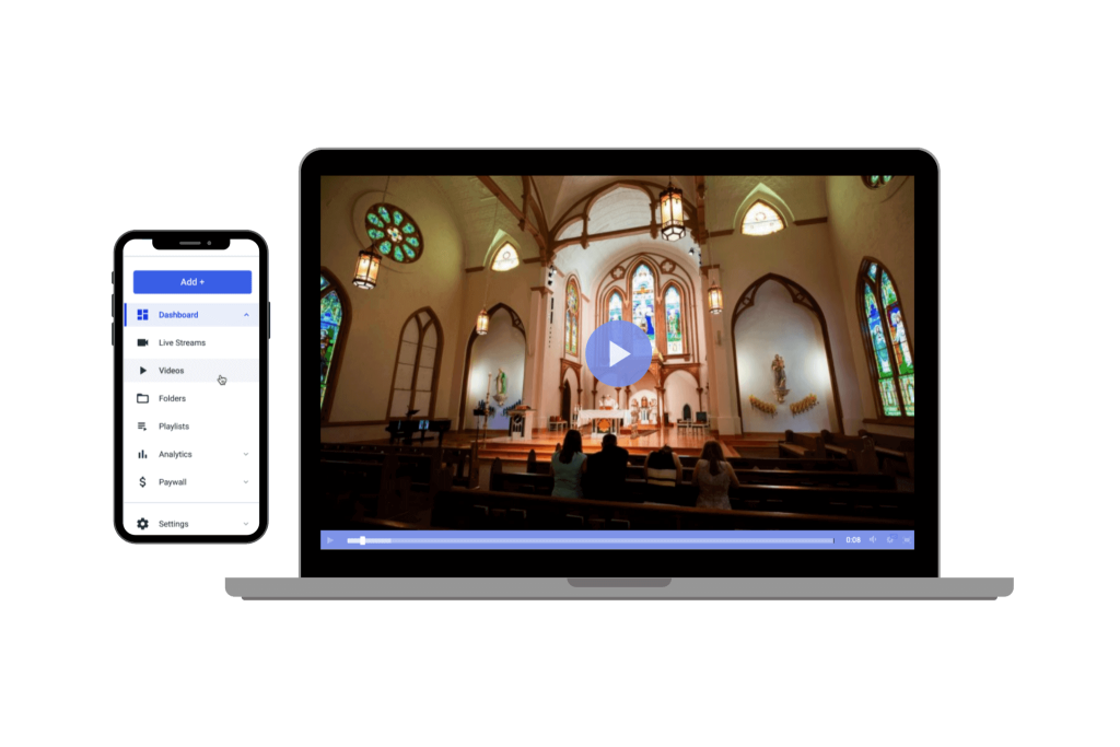 dacast live video streaming solution for churches