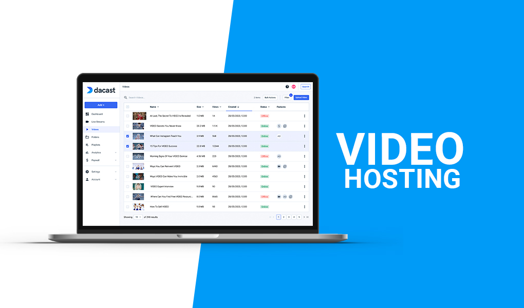 video hosting software