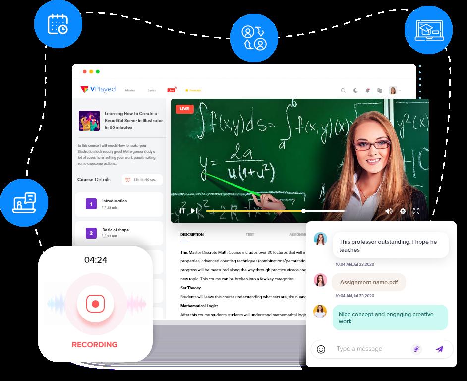 VPlayed Live Streaming Classroom platform