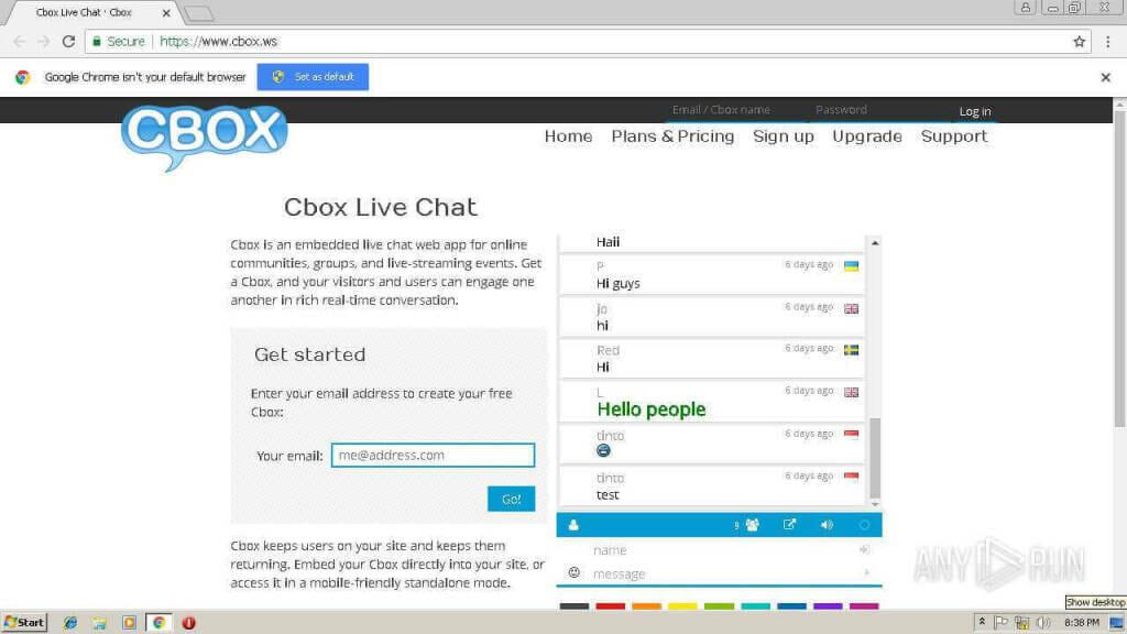 cbox live stream chat