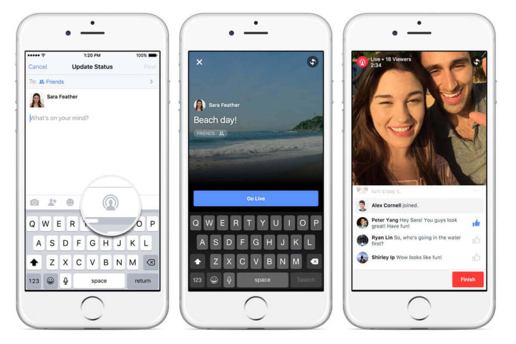 facebook live streaming app