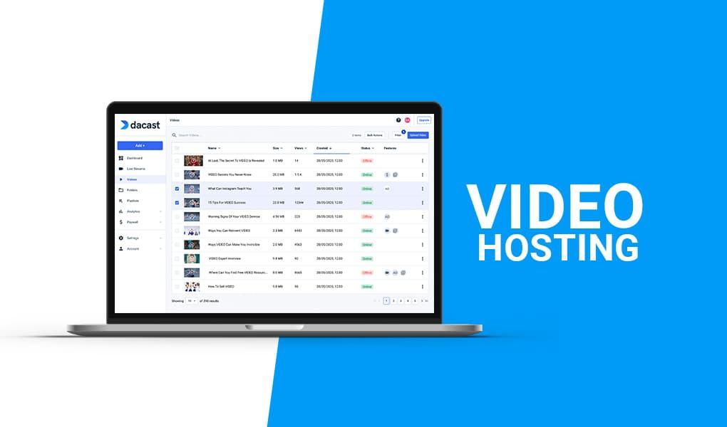 video hosting software
