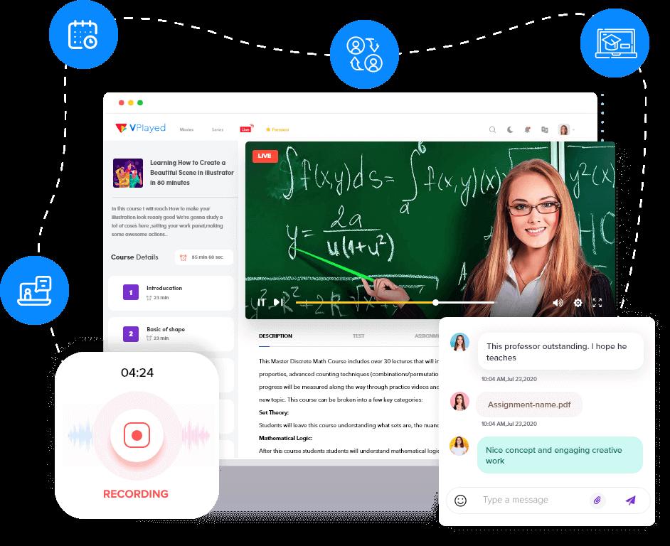 Vplayed education video platform