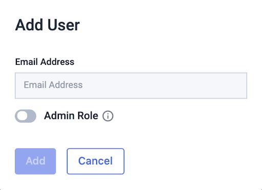 Add User Pop up