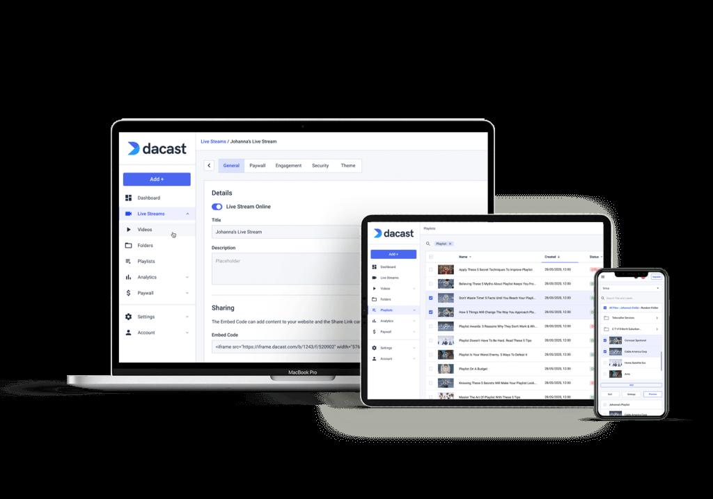 dacast video hosting platform